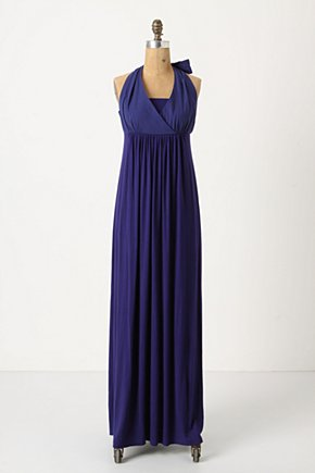 Fluid Form Dress - Anthropologie.com :  flowy halter neck knit ocean blue