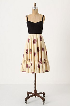 Night-And-Day Dress - Anthropologie.com :  ruffle chrysanthemum black sundress