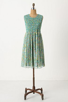 Mbira Frock - Anthropologie.com :  party frock smocked flouncy green