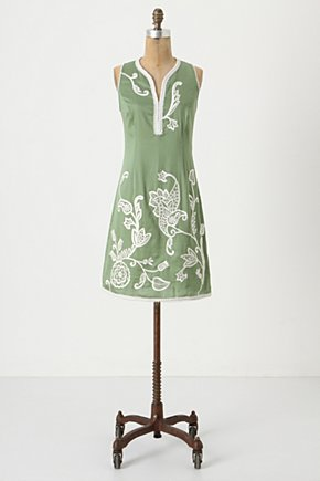 Sweet Osmanthus Shift - Anthropologie.com :  embroidery shift dress nature inspired stitched