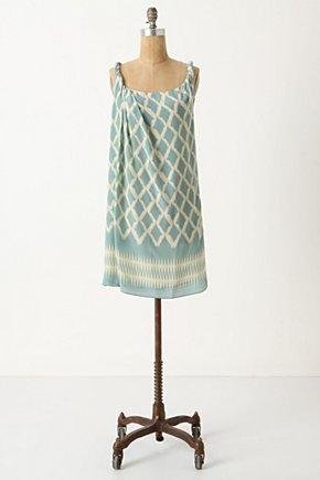 Diamond Lattice Dress - Anthropologie.com :  sky blue flowy shift dress silk