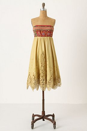 Indira Dress - Anthropologie.com :  eyelet summer dress bohemian tie back