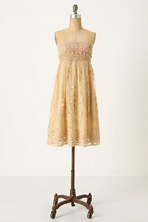 Oblique Blooms Dress - Anthropologie.com :  floral party dress empire waist cream