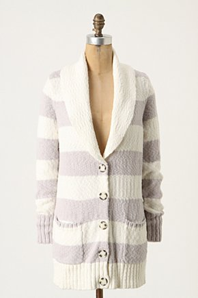 Granita Cardigan - Anthropologie.com :  button front striped patch pockets shawl collar