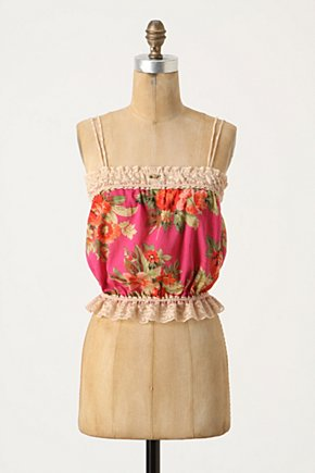 Ambridge Cami - Anthropologie.com :  camisole rose print red blouson top