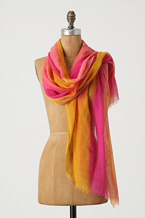 Imaginings Scarf - Anthropologie.com :  wool splashed cheery colorful