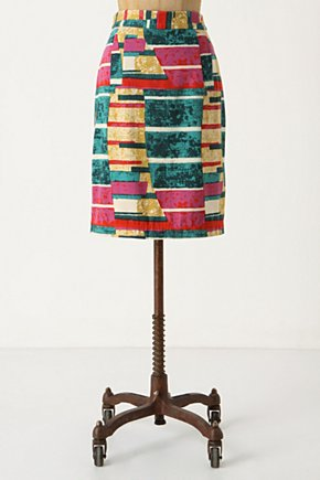 Sorbet Skirt - Anthropologie.com :  patterned colorblock watermelon geometric