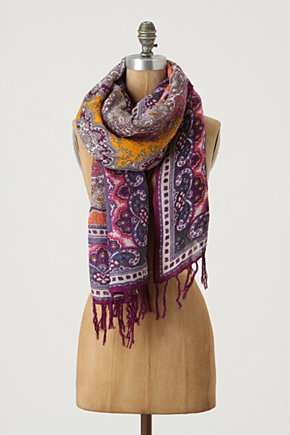 Summer Sorbet Scarf - Anthropologie.com :  linen blend cheery paisley orange
