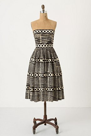 Lattice Ring Dress - Anthropologie.com :  sundress brown ethnic a line