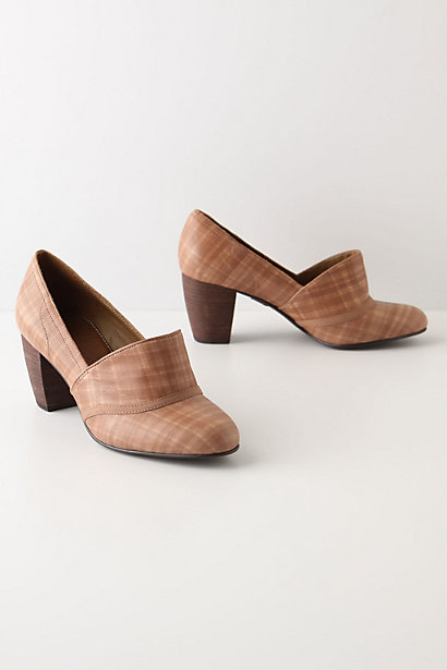 Parquet Heels - Anthropologie.com :  neutral leather the 50s heels
