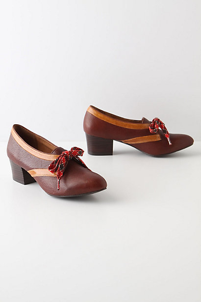 Ten-Pin Oxfords - Anthropologie.com :  the 50s wine oxfords lace up
