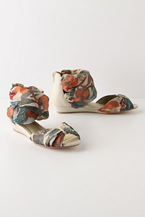 Salome Wedges - Anthropologie.com :  floral wedges leather off white