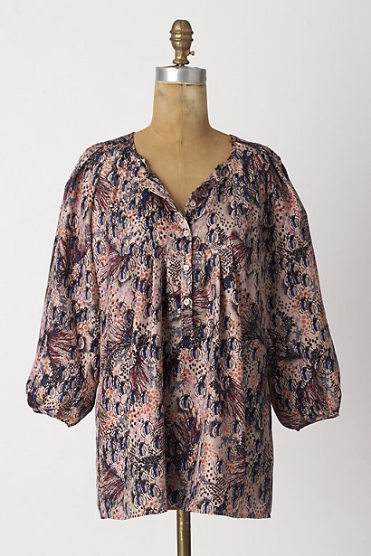 Critter Carnival Tunic - Anthropologie.com :  dolman sleeves pink smock nature inspired