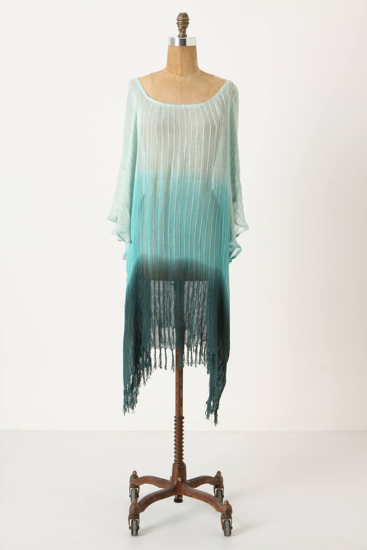 Anthropologie - Fade Into Green Cover-Up :  fade into green coverup swimwear cover up dip dye