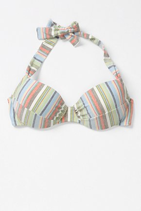 Camera Pose Bikini Top - Anthropologie.com :  top retro inspired stripes colorful
