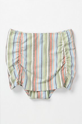Camera Pose Bikini Bottoms - Anthropologie.com :  high waist retro inspired stripes colorful