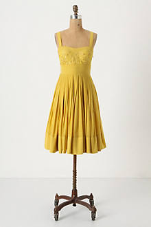 Spiced Dress - Anthropologie.com :  embroidered sleeveless cotton yellow