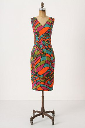 Glass Glow Shift - Anthropologie.com :  shift dress colorful psychedelic