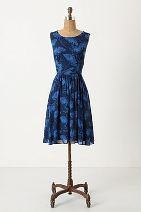 Strappy Dandelion Dress - Anthropologie.com :  nature inspired blue and floral spaghetti straps dandelion
