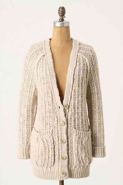 Familiar Fit Cardigan - Anthropologie.com :  button front wool blend front pockets slouchy