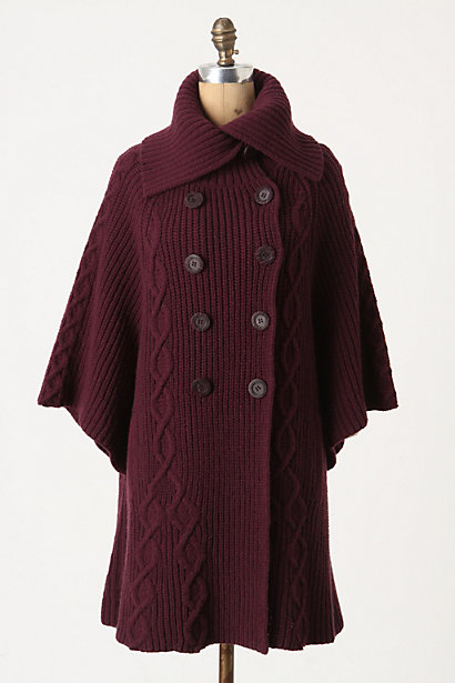 Golden Gate Cardigan - Anthropologie.com :  cable knit button front wool blend purple