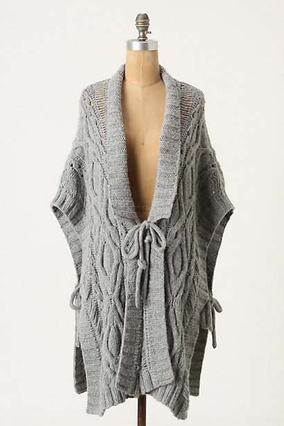 Metamorphose Poncho - Anthropologie.com :  poncho wool blend ties angora