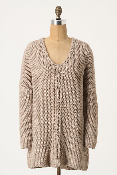 Chain Channel Pullover - Anthropologie.com :  wool blend stitching tunic pullover