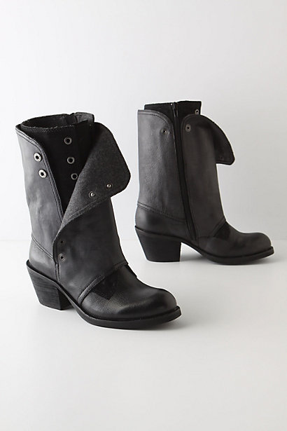 Gunpowder Boots - Anthropologie.com :  wool leather snaps stacked heel