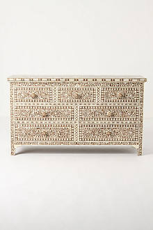 Ivory Etched Dresser