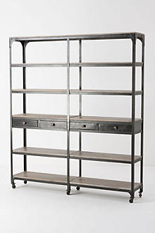 Decker Double Bookcase, Tall