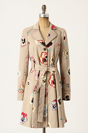 Pansy Corset Trench - Anthropologie.com :  whimsical corset inspired lace up pansy