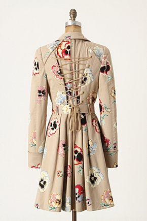 Pansy Corset Trench - Anthropologie.com