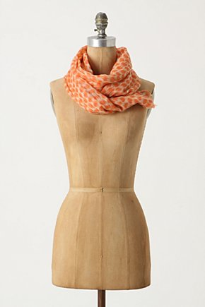 Speeding Dots Scarf - Anthropologie.com :  wool ikat polka dots scarf