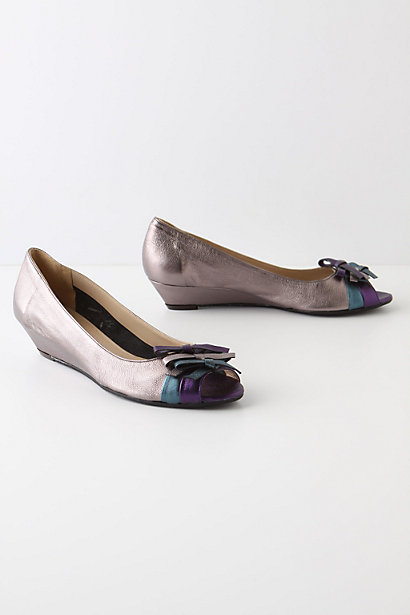Jeweler's Row Wedges - Anthropologie.com :  tricolor metallic bands sapphire