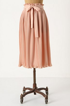 Million Pleats Midi - Anthropologie.com :  paper bag waist midi skirt tucks pleats