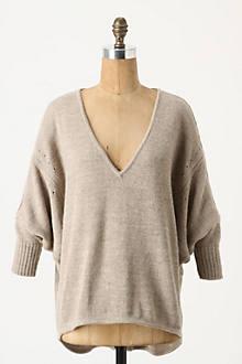 Slouched Keyhole Sweater