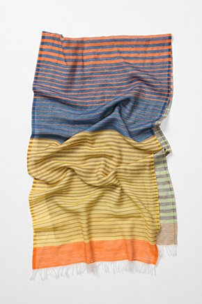Fully Striped Scarf - Anthropologie.com :  wool striped cheery colorful