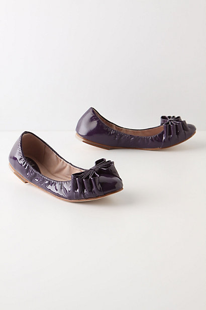 On-The-Vine Flats - Anthropologie.com :  bows leather skimmers grape
