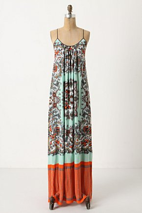 Languid Paisley Maxi Dress - Anthropologie.com :  spaghetti straps billowy boho breezy