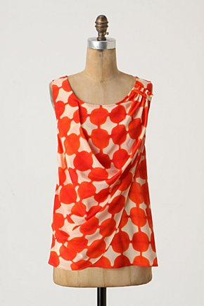 Quantum Blouse - Anthropologie.com :  blouse silk tank top draped