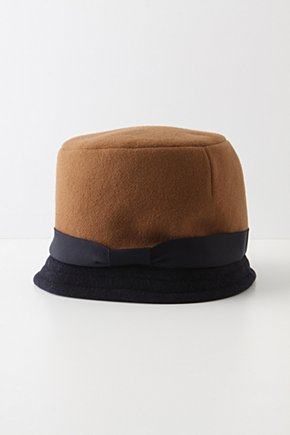 Black & Tan Cloche - Anthropologie.com :  wool camel black and tan layered