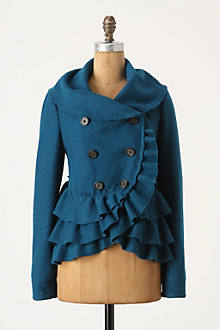 Frilled Echelons Peacoat