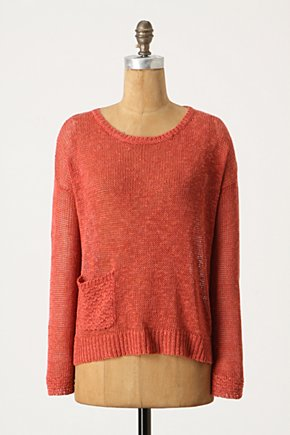 Turning Season Pullover - Anthropologie.com :  open knit linen blend pullover sweater
