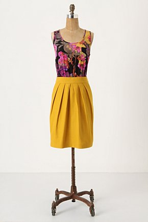 Lila Frock - Anthropologie.com :  daffodil twofer silk black and floral
