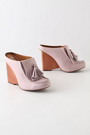 Towering Tassel Mules - Anthropologie.com :  tassel wedge mules leather