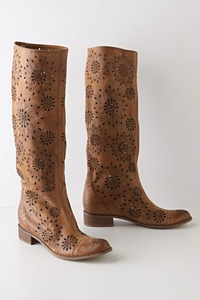 Foxglove Boots - Anthropologie.com :  leather slouchy cutout detail brown