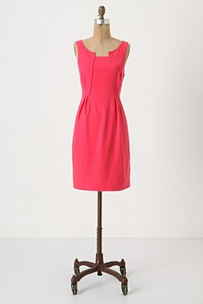 Pleats & Panels Shift - Anthropologie.com :  pink shift dress panels pleats