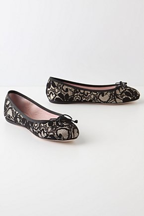 Black & Blush Ballerinas - Anthropologie.com :  silk blush skimmers ballet flats