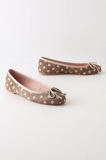 Different Dapple Flats - Anthropologie.com :  neutral polka dots flats pony hair