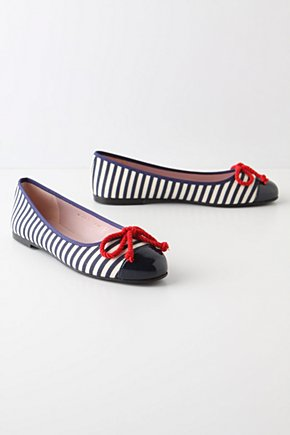 Pelagic Skimmers - Anthropologie.com :  rope bow red accents skimmers